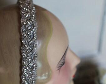Braided Rhinestone headband