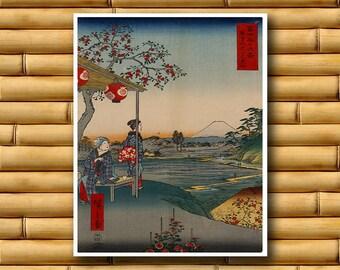 Asian Art Japanese Landscape Poster Asian Decor Japan Art Print (J9)