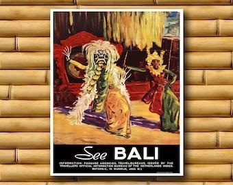 Art Bali Travel Poster Asian Wall Decor Print (AJT50)