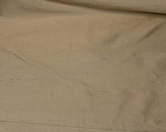 Cream faux Silk - Fabric by the Yard 064