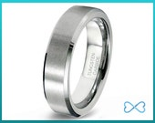 Tungsten Wedding Bands,Mens Ring,Mens Wedding Bands,Tungsten Ring,Rings,Beveled Edge,6mm,FREE Engraving,Mans,Anniversary,His Hers,Set,Size