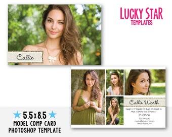 comp card you 39 ve struck gold instant download psd photoshop