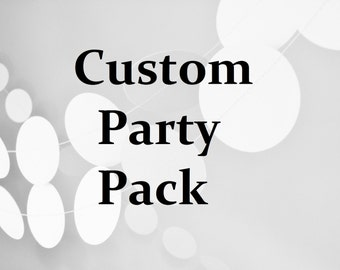 "Party Pack paper Garland  2"" circle paper confetti garland  wedding decoration, party garland, bridal shower, bachlorette party, baby shower"