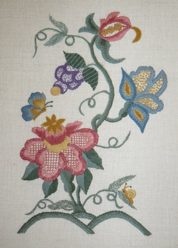 Bethany Crewel Embroidery Kit By ColeshillCollection On Etsy
