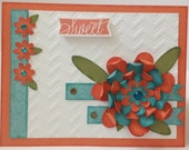 Sweet Blooming Flower Hand-Made Card with Close To My Heart (CTMH) Images, Papers, and Inks! Cricut Cuts!