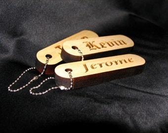 Personalized Wood Keychain