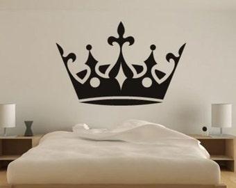 Kate Crown Wall Sticker Black