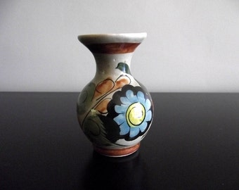 Small Handmade Bud Vase with Flower Design Made in Mexico º