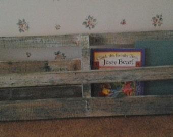 Distressed Wood Book Shelf