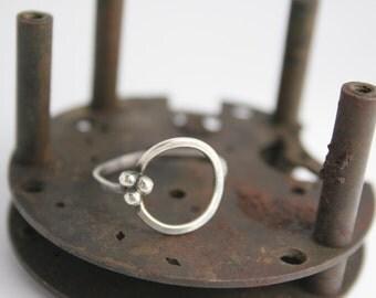 Sterling Silver Ring - Handmade - Circle - Trendy