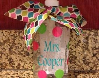 Teacher Gift! Personalized Hand Sanitzer!!