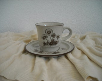 Noritake Stoneware Cup and Saucer Set