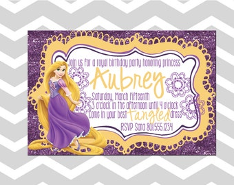 Tangled Birthday Card/Invitation Rapunzel