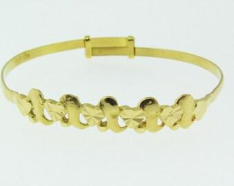 22 karat gold baby bangle bracelet. Vintage.