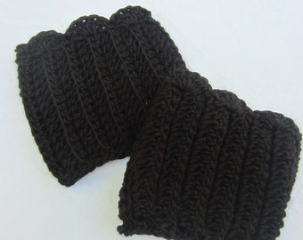 Black Ribbed Boot Cuffs