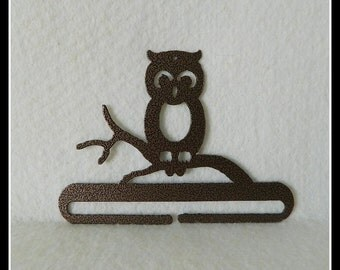 Owl Quilt Hanger ~ Dark Copper or Charcoal Black Cut Steel 6 Inches Wide ~ Made in the USA
