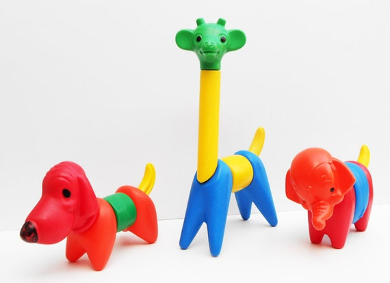Toys From The 60s : Zoo it yourself tupperware toy animals vintage