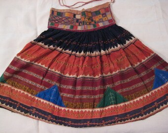 Antique Kuchi Banjara Tribal Belly Dancers Skirt (An Authentic in a colorfull Trend in fashion )
