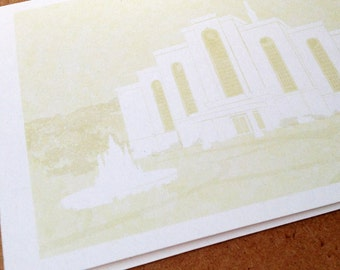 ALBUQUERQUE New Mexico LDS Temple (Note Card) Watercolor Print