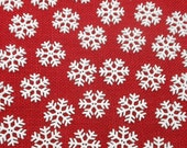 30 Snowflake Buttons - 1 1/4""