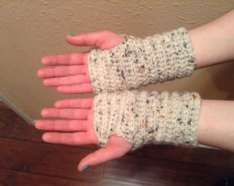 Crochet Wrist Warmers, Fingerless Gloves, Texting Gloves