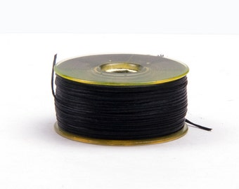Nymogarn ø 0.15 mm x 44.5 m, * black |. Extremely tear-resistant bead yarn for thread work - NY0915