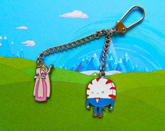 Adventure Time Princess Bubblegum & Peppermint Butler keychain  Free UK Postage!