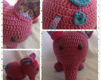 Elephant plush doll