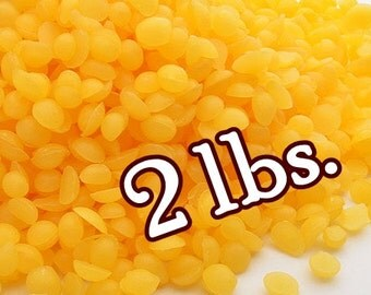 YELLOW Organic BEESWAX Pellets - 2 LBS. - Bulk Sizes! Fresh ~ Natural