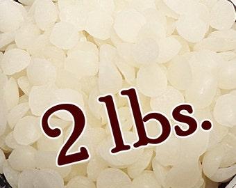 WHITE BEESWAX Pellets - 2 lbs. Organic, Natural & Fresh (Bulk Sizes)