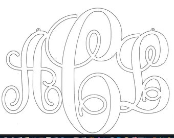 Mock up drawing of monogram.