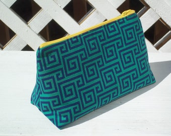 Green Yellow Zippered Pouch