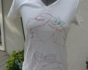 Hand-painted Ariel Shirt
