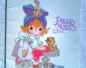Vintage Precious Moments Cross Stitch Pattern Book PM33 ... This Is Your Day To Shine