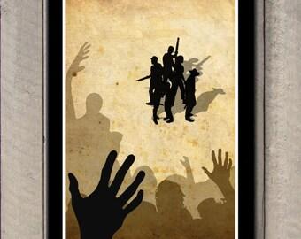 The Walking Dead Poster, Minimalist TWD Print