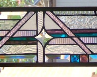 Abstract Stained Glass Window Hanging