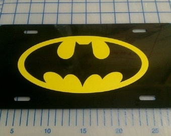 Batman license plate car tag