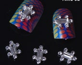 10pcs Charming Silver  Tortoise Shaped Nail Alloy Nail Jewelry for Nail Art DIY Nail Decoration