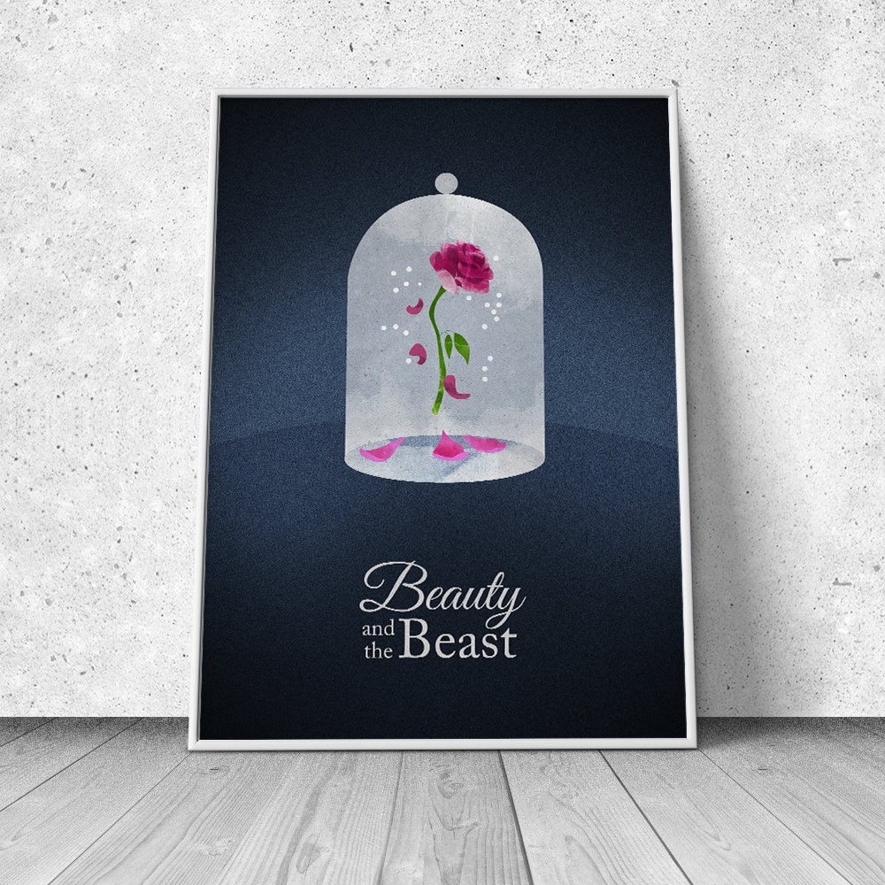 beauty and the beast alternative minimalist movie poster