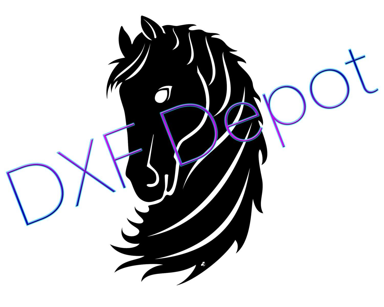 Format dxf de cheval dessin cnc coupe file vector art - Dessin dxf gratuit ...