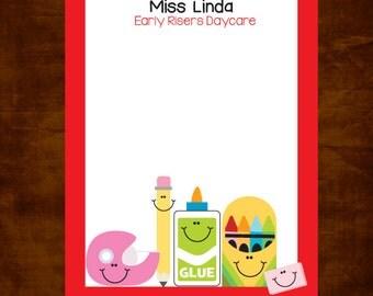 Personalized Teacher Notepad, Teacher Appreciation Gift, Teacher Gift Giving, Daycare Teacher, Personalized Teacher Gift, Back to School