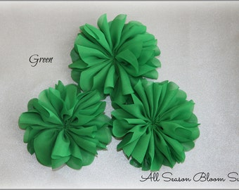Ballerina Flowers, Green, Fabric Flowers, Tutu Flowers, Wholesale, Chiffon Flower, DIY