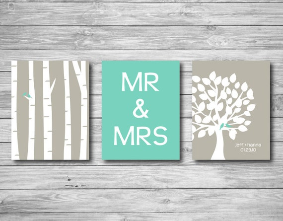 Wall Art With Wedding Date : Wall art print tree wedding marriage gift couple name date