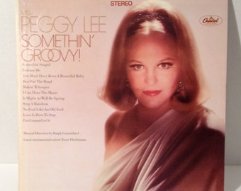 1967 Miss, Peggy Lee Somethin Groovy Vinyl Record with Stereo