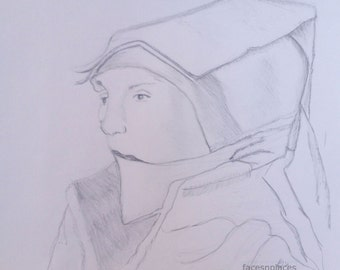 Dutch Girl Drawing