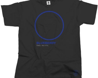 Blueberry Haze Cannabis Tshirt (Black) From Dibbs
