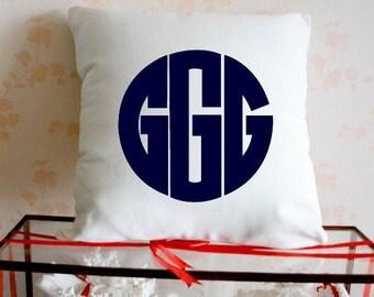 Monogram Pillow,Initial Pillow,Monogram Pillow Case, Monogram Throw Pillow,monogrammed pillow,Name Pillow,Custom Pillow Case,Gift Ideas 4419