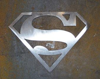 Plasma Cut Superman Metal Wall Art.