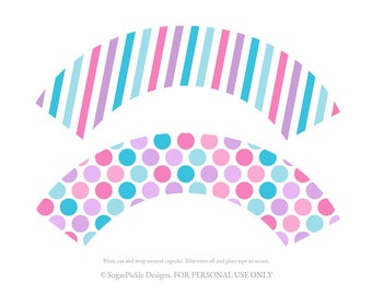 Doc Cupcake wrappers, cupcake wrapper printable, cupcake label printable, Doc McStuffins Party Printable, Doc Party Decorations