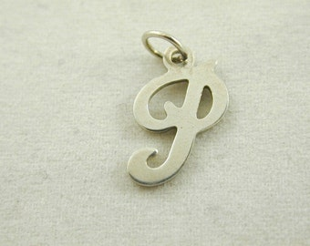 "The Letter ""P"" 0.44 Grams Sterling Silver Vinatge"